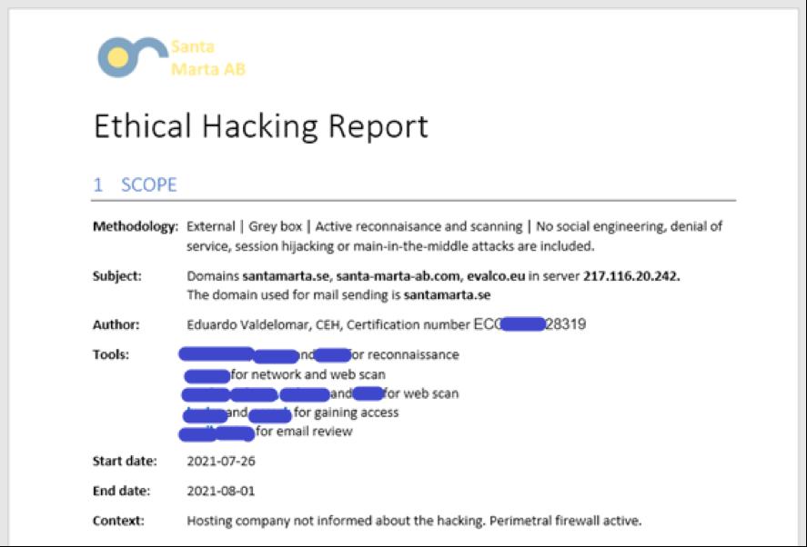 ethicalHackingReport