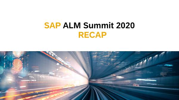 SAP ALM SUMMIT 2020